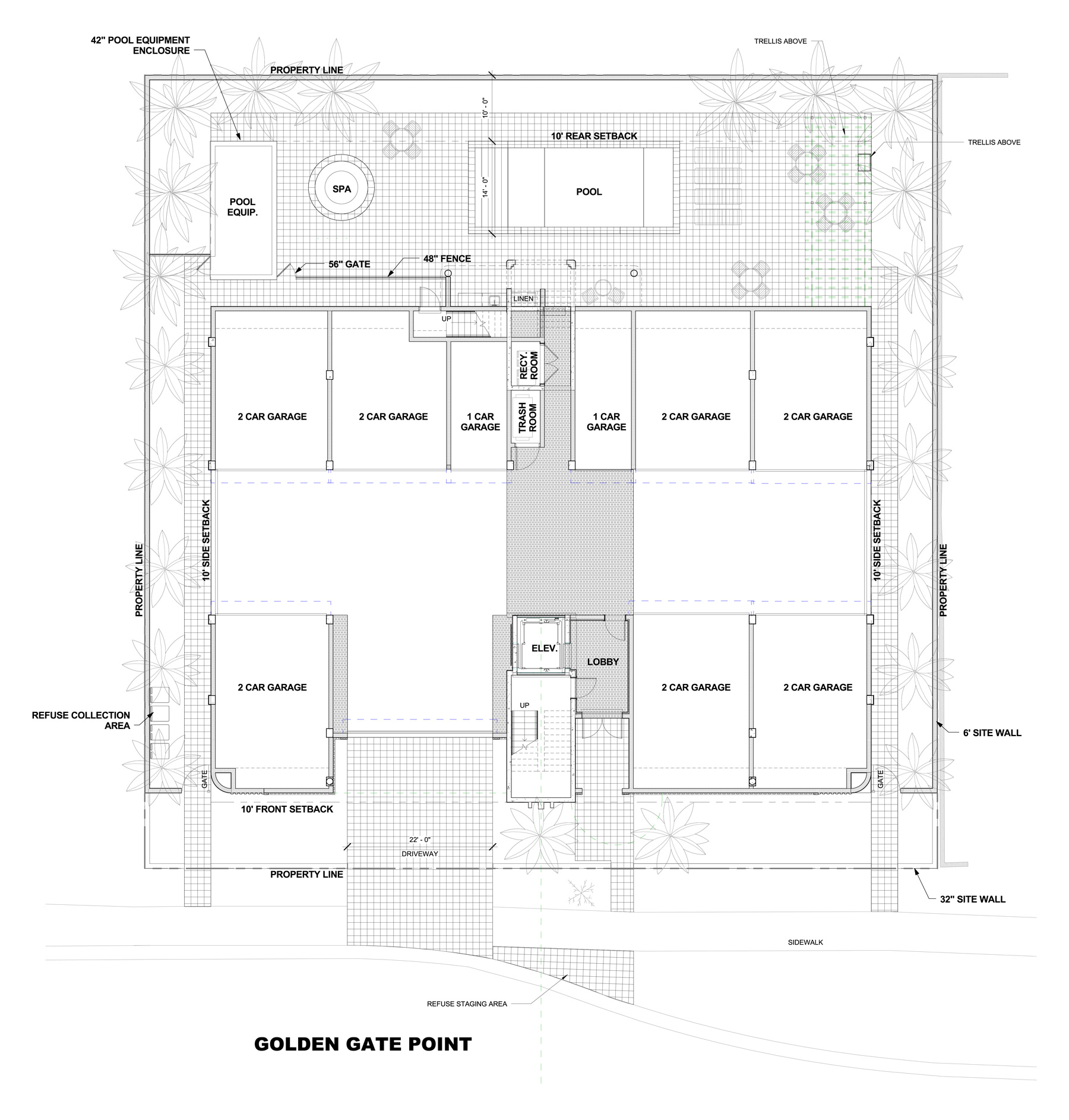 SITE PLAN - The Pearl Sarasota Florida